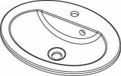 Vasque ovale à encastrer
