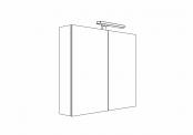 MELODIA - Armoire de toilette 80 cm 2 portes
