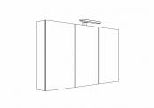 MELODIA - Armoire de toilette 120 cm 3 portes