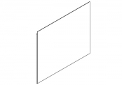 EKO'LINE Miroir crédence - 120 cm