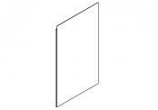 EKO'LINE Miroir crédence - 60 cm