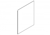 EKO'LINE Miroir crédence - 80 cm