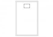 Receveur rectangulaire ROCKSTONE 140 x 90 cm