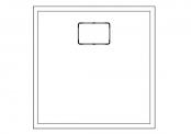Receveur carré ROCKSTONE