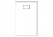 Receveur rectangulaire WOODSTONE 140 x 90 cm
