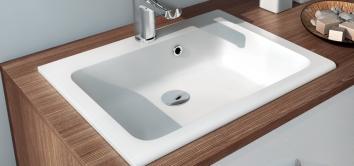 Vasque à encastrer en polybéton